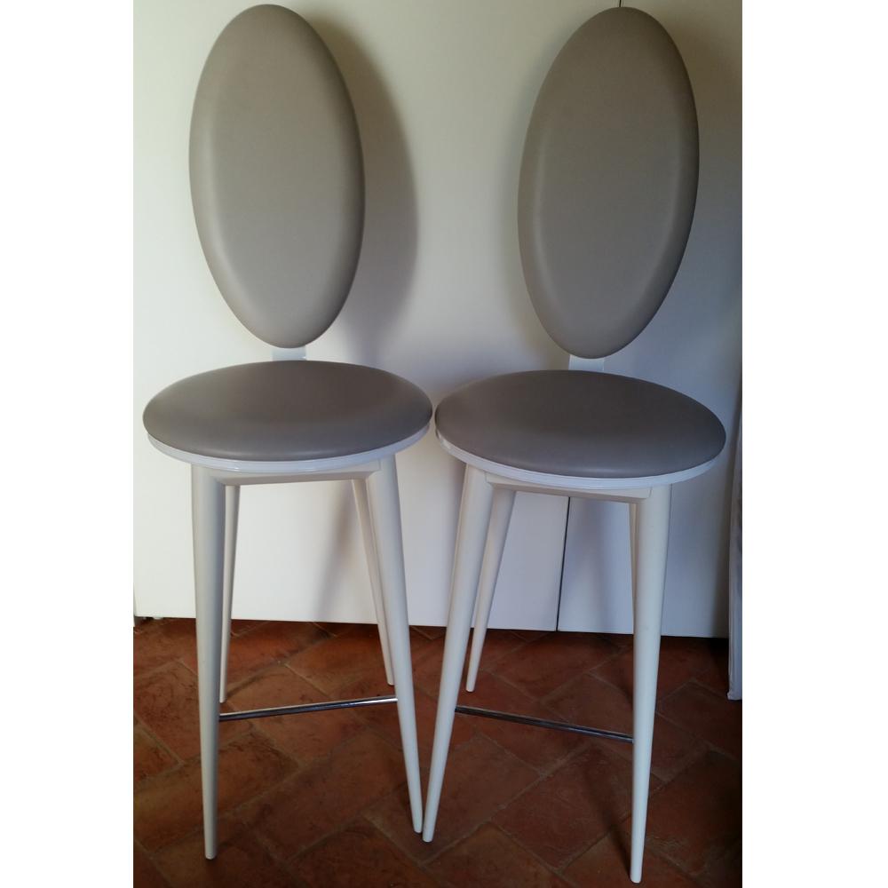Coppia sedie pelle Bastide by Reflex - Occasioni d\'Autore